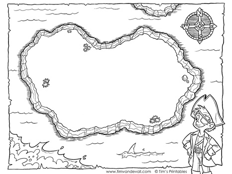 Blank Treasure Map Templates for Children