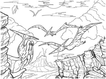 pterodactyl-coloring-page