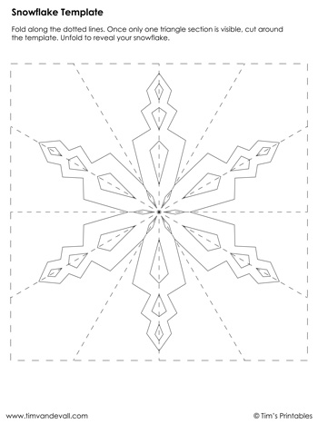 Snowflake Template #8