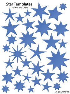 Star Templates - Blue