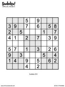 printable sudoku puzzle