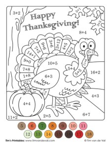 turkey-color-by-number