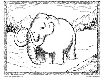 woolly-mammoth-coloring-page