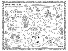 Woolly Mammoth Maze - Black and White Version