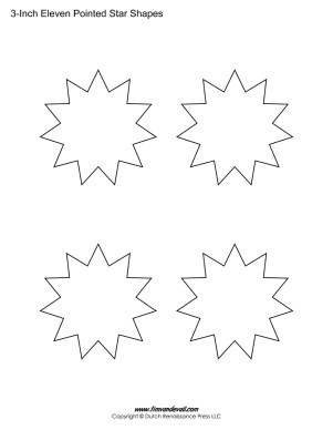 11 pointed stars