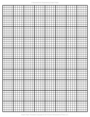 Engineering Graph Paper Template 8 5x11 Letter Printable PDF