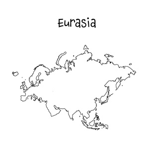 blank eurasia map