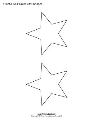 five sided stars