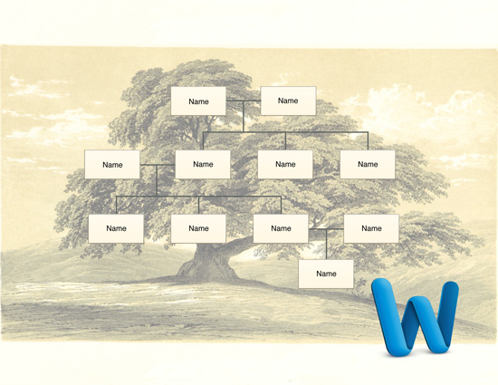free family tree template for Word