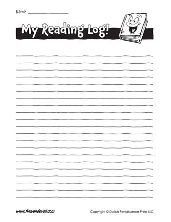 blank reading log
