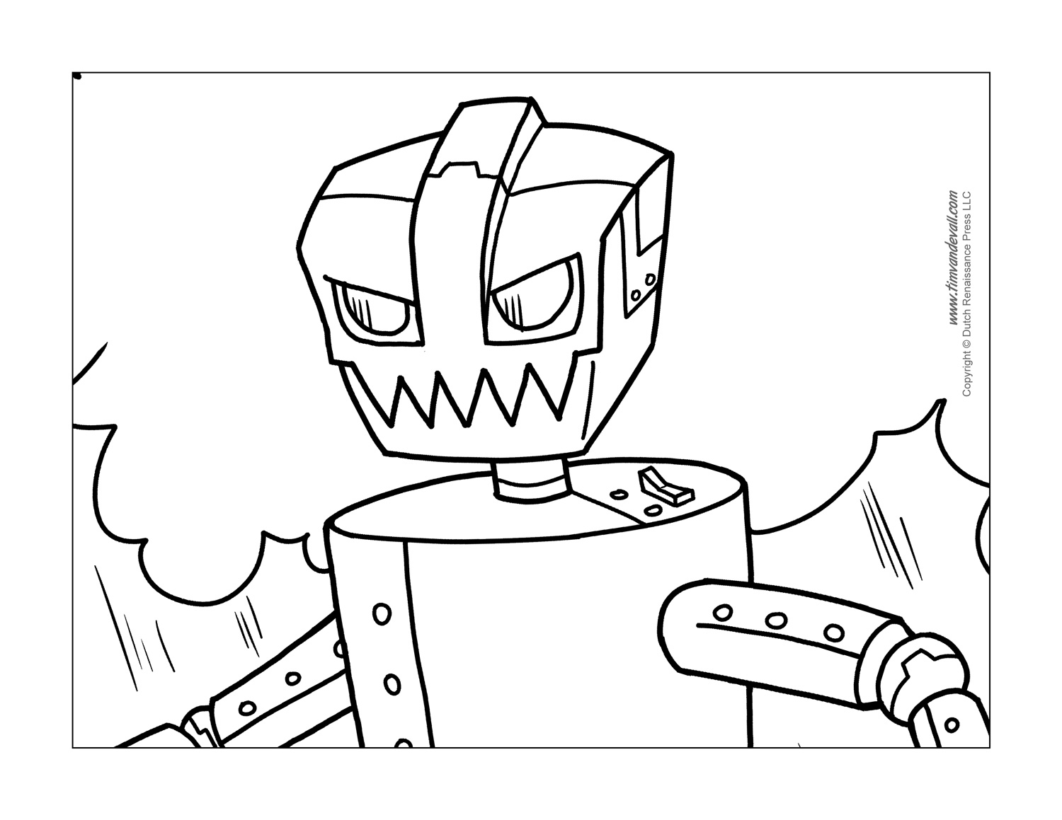 Free Robot Coloring Pages Sketch Coloring Page
