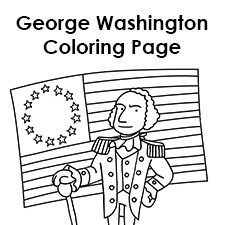 George Washington Coloring Page
