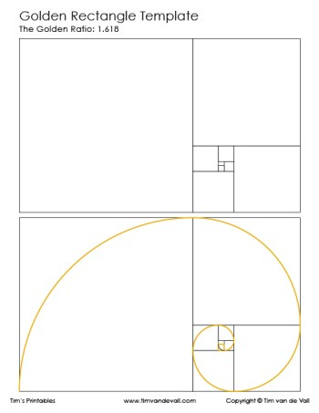 Golden Rectangle Template