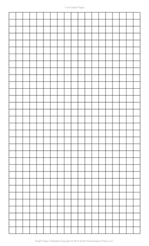Graph Paper Template, 8.5x14 Legal Printable PDF