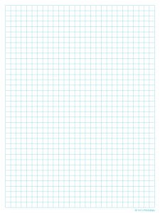 Graph Paper Template – Quarter Inch, Light Blue Lines