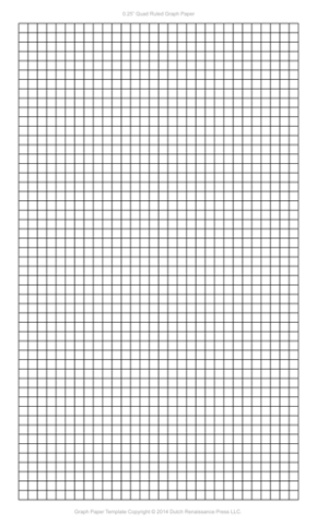 1/4 Inch Graph Paper Template, Legal PDF