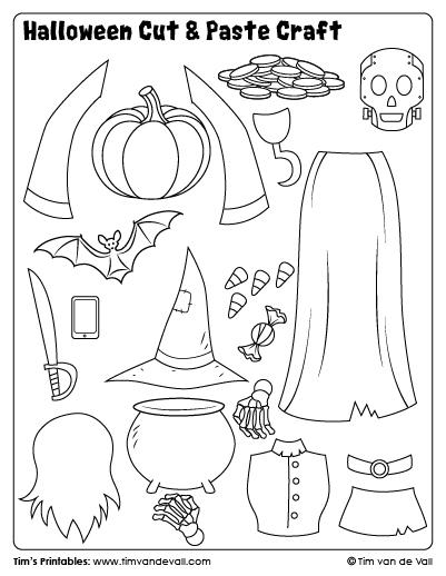 Halloween Cut & Paste Craft – Sheet 3