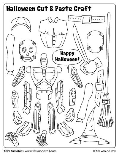 Halloween Cut & Paste Craft – Sheet 4