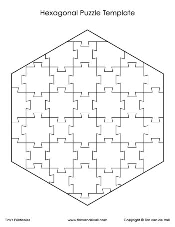 hexagon puzzle template