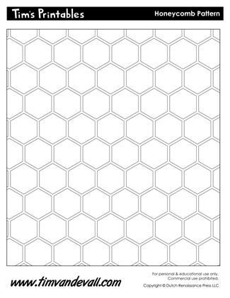 Honeycomb Template & Honeycomb Pattern