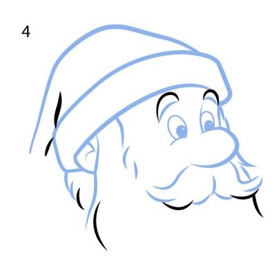 Santa drawing activity for kids