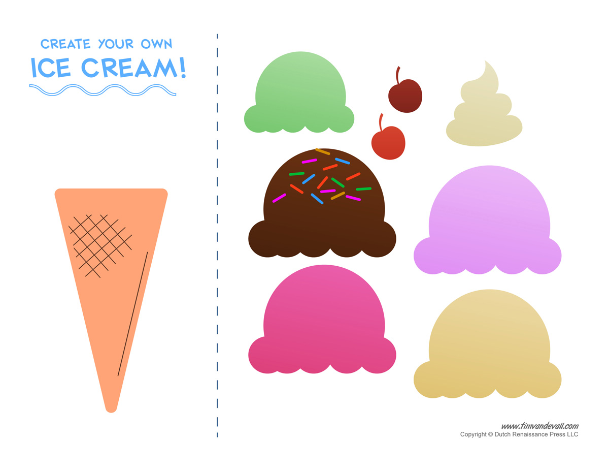 It is a graphic of Nerdy Ice Cream Cone Printable