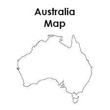 Australia Map Printable.Blank Australia Map Printable
