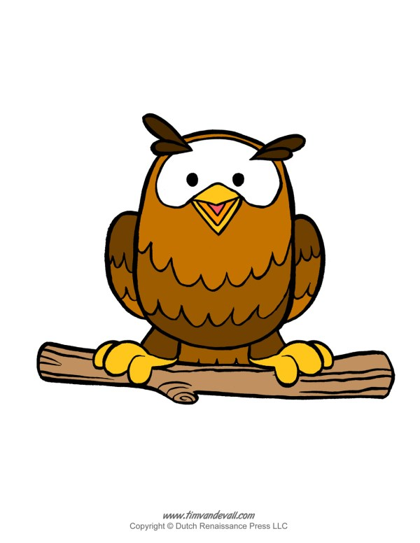 Printable Owl Template Coloring Pages And Clipart
