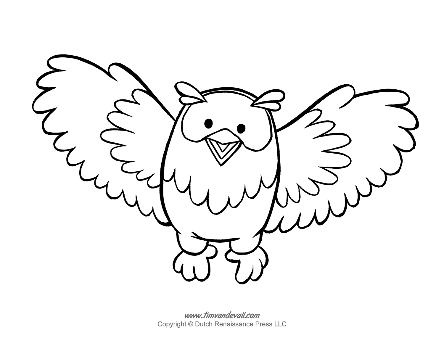 Printable Owl Template, Owl Coloring Pages, and Owl Clipart