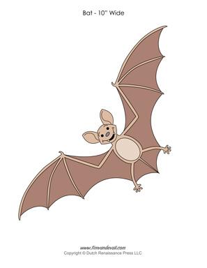 Paper Bat Template