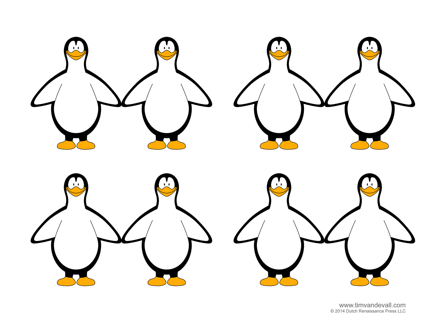 Penguin Template, Coloring Pages, Clipart Pictures and Crafts