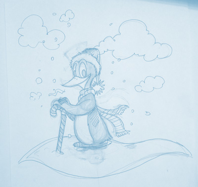 Original Penguin Sketch
