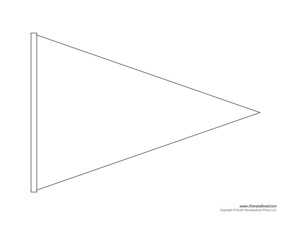 pennant banner template