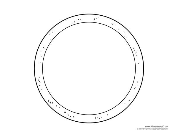 pizza craft blank