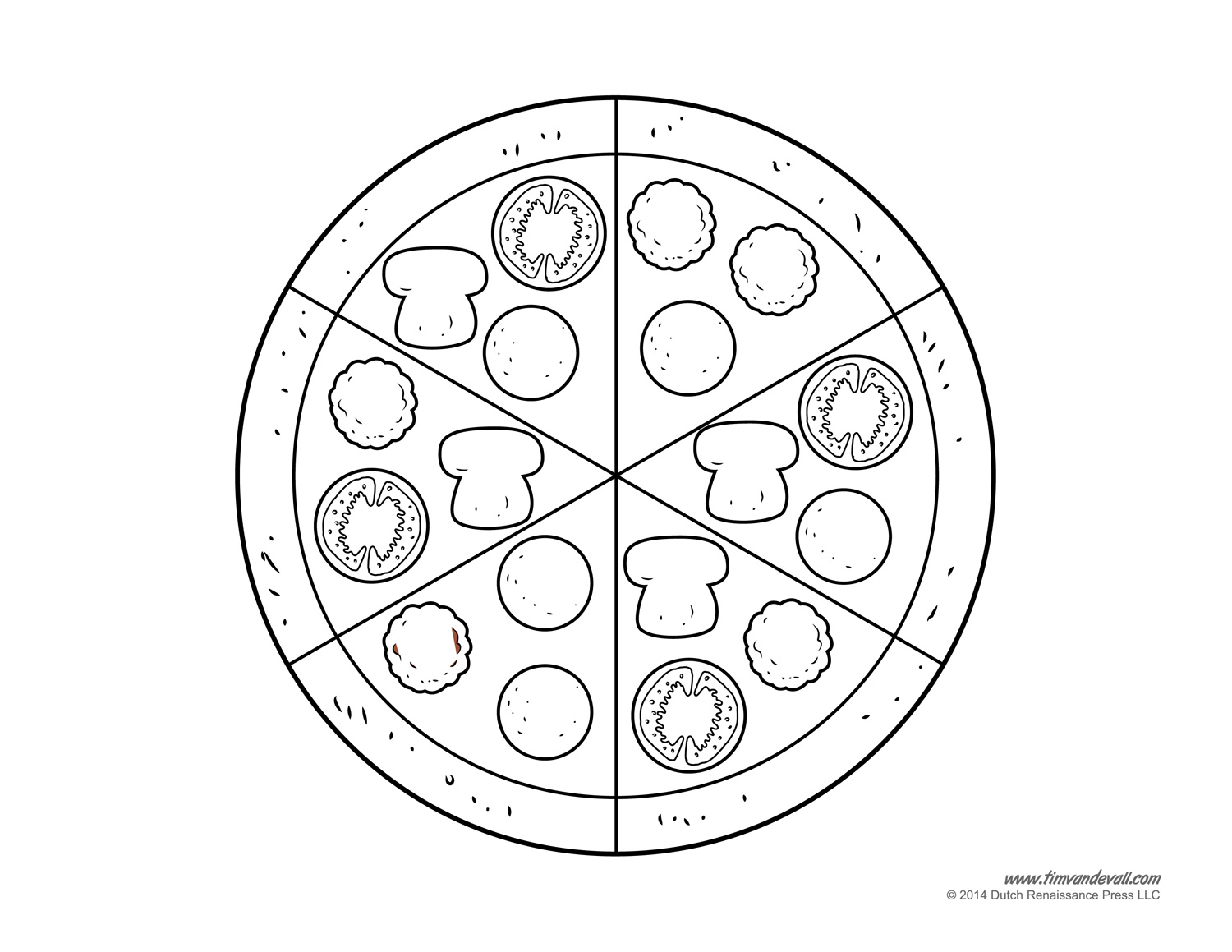 Fraction Pizza Printable