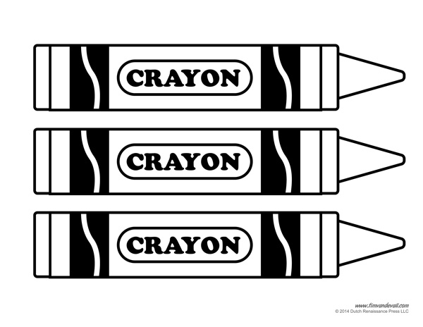printable crayon template