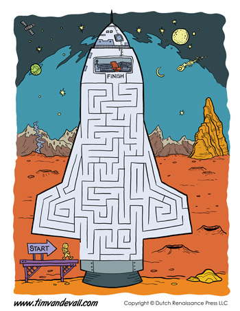 printable space maze
