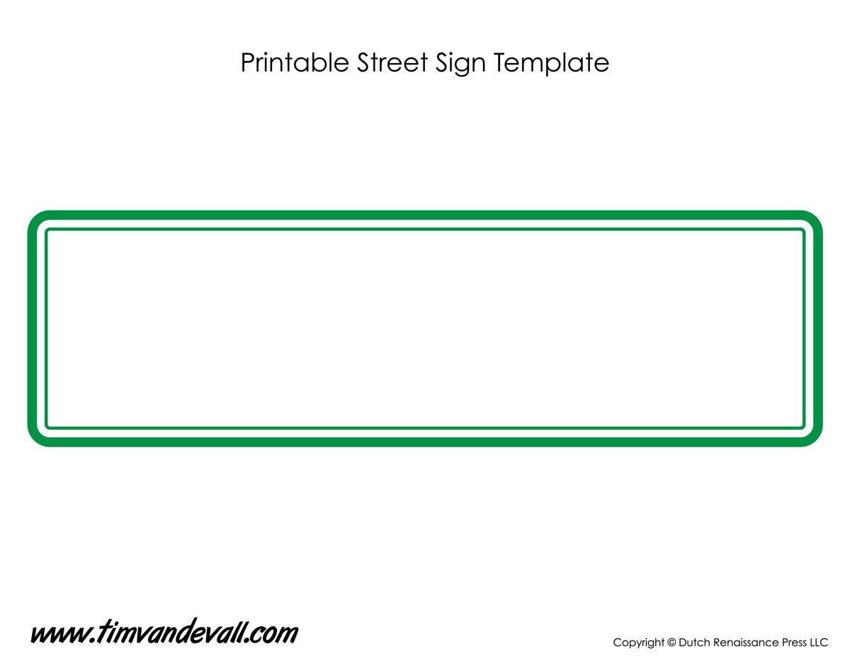 Street Sign Template