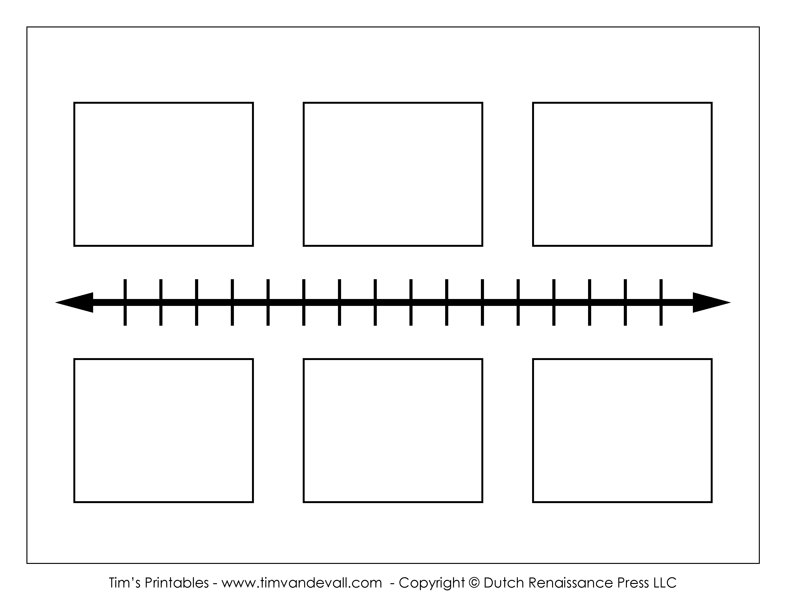 small resolution of Blank Timeline Template - Tim's Printables
