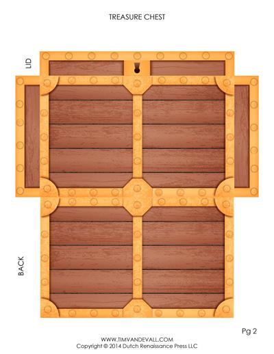 paper treasure chest template