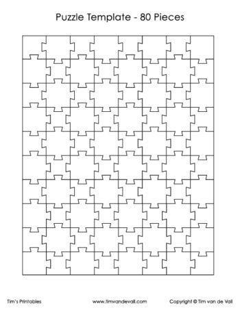 80 piece puzzle template