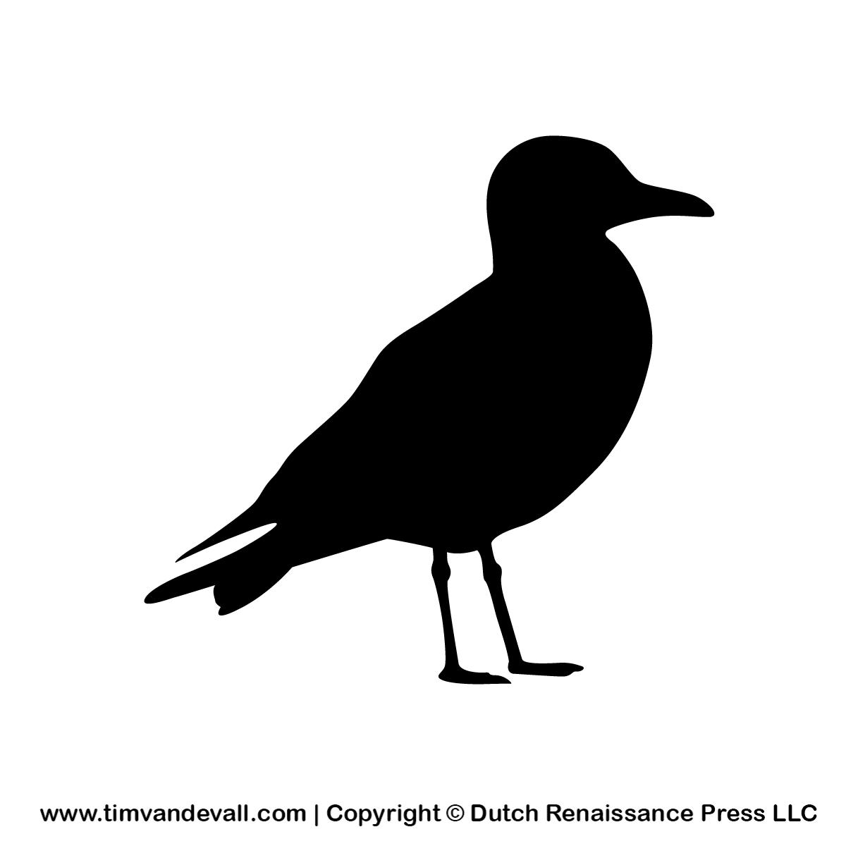 seagull-silhouette - Tim's Printables