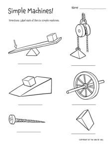 Six Simple Machines Worksheets
