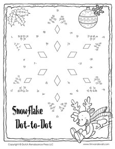 Snowflake Dot-to-Dot #1