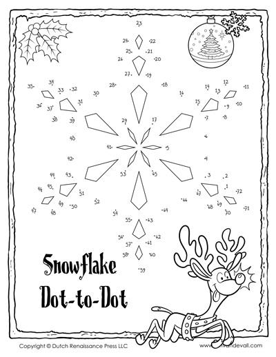 christmas dot to dot printable