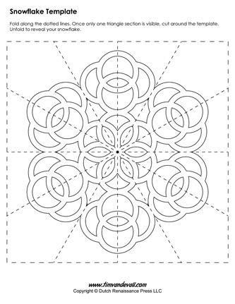 snow flake template