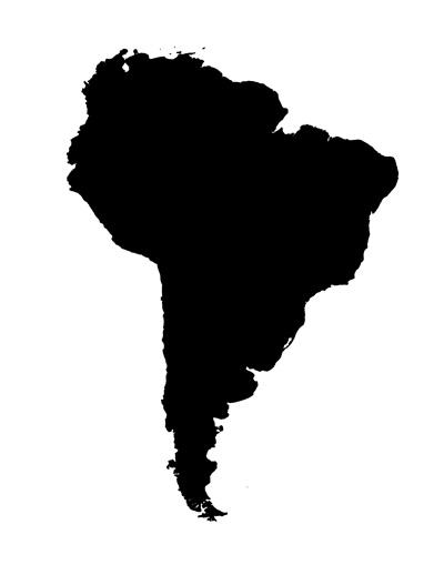 south america map stencil