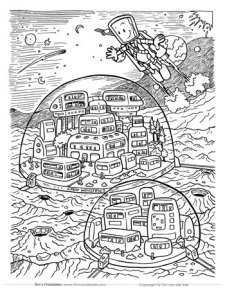 Space Station Coloring Page