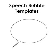 speech bubble templates