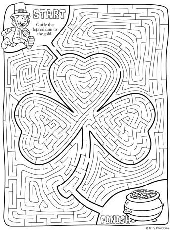 st. Patrick's shamrock day maze